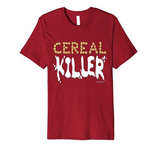 Mens Cereal Killer Halloween Shirt for Kids Men and Women Medium Cranberry