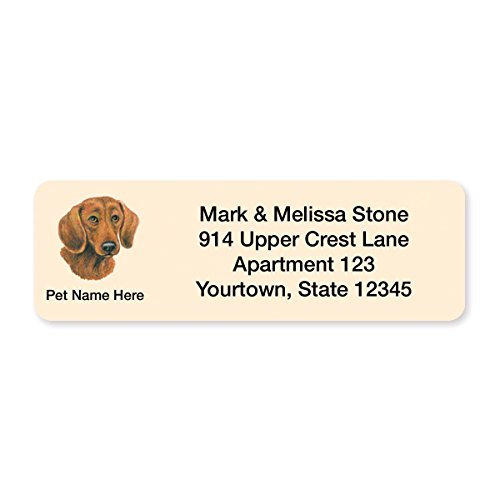 Dachshund Set of 215 Sheeted Address Labels