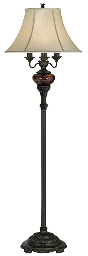 Bronze Tortoise Shell Font Floor Lamp by Barnes and Ivy - Video ...