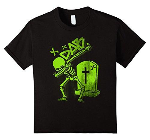 [unisex-child Dabbing Skeleton Shirt Dab Hip Hop Skull Dabbin Glow Effect 12 Black] (Skeleton Costume Pose)