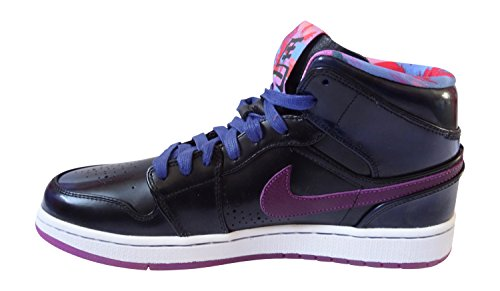 Nike Air Jordan 1 Mitten Nouveau Yoth Mens Hi Sneakers 652484 Gymnastikskor Djupt Kungsblå Röd Volt Svart Vit 405