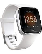 ساعة يد ذكية من فيت بت فيرسا للصحة واللياقة مقاومة للماء، ومزودة بمراقب لمعدل نبضات القلب، وبطارية تدوم لاكثر من اربعة ايام، مصنوعة من الالومنيوم