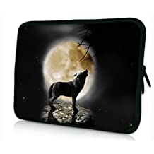 "iColor Universal Cool Wolf & Moon 9.7"" 10"" 10.1"" 10.2"" Laptop Tablet PC Sleeve Case Bag Pouch Cover Protector For 9.7 - 10.2 inch Apple Ipad Samsung Nexus Google Android Asus Transformer Pad,Acer ICONIA HP DELL Lenovo Asus Touchscreen Tablet Notebook Computer"