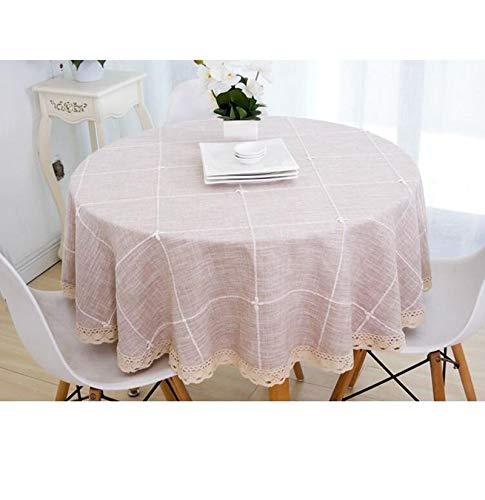 marron-b 180CM Nappe, nappes en lin et coton Couvertures en lin pour table rectangulaire (Couleur   marron-a, taille   190CM)