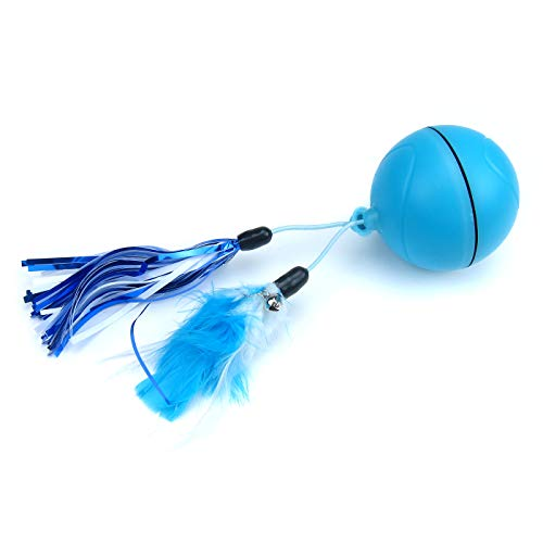 Alfie Pet – Carden Interactive Wicked Ball Smart Toy with Detachable Feather for Cats