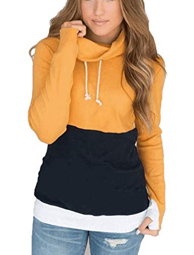 ORMAY Casual Loose Fit Lone Sleeve T-Shirt Cute Sweatshirts for Girls (Yellow, X-Large)