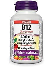 Webber Naturals Vitamin B12 Methylcobalamin, Ultra Strength, Quick Dissolve Tablet, 10,000 mcg, 40 Count