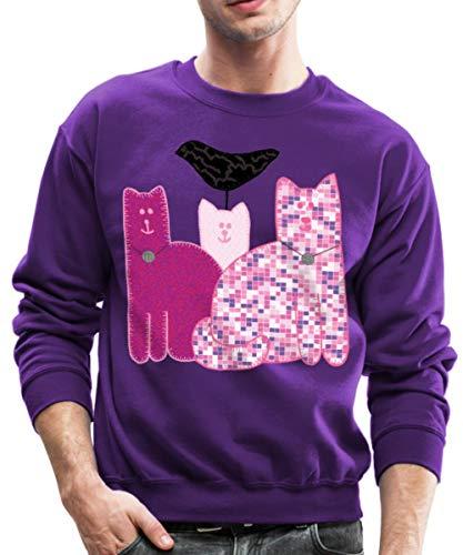 Spreadshirt Miranda Sings Merch Favorite Cats Crewneck Sweatshirt, S, Purple from Spreadshirt
