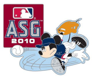 Game Star All Pin (2010 MLB All-Star Game / Disney's Mickey Mouse Pitcher Pin)