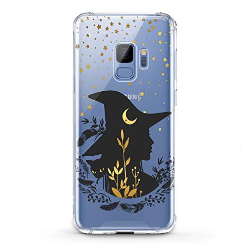 Lex Altern TPU Case for Samsung Galaxy A9 A8s A8 A7 A6s A5 A70 A50 Bohemian Witch Clear Night Women Soft Cover Magic Gift Slim fit Golden Print Lightweight Stars Flexible Black Cat Design Smooth]()