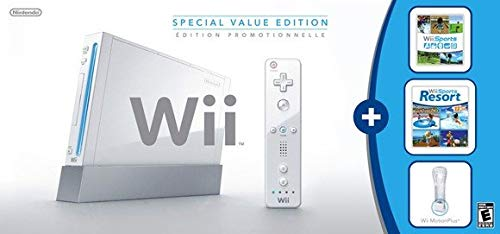 Wii Console w/ Bonus Wii Sports Resort & Wii MotionPlus Bundle