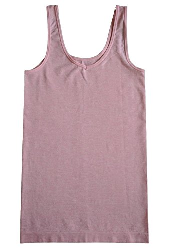 - Ellen Tracy Womens Reversible V-Neck/Scoop Neck Seamless Stretch Camisole (Large, Crystl Rose)