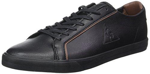 Le Coq Sportif Feret ATL Leather, Formatori Bassi Uomo Nero (Black/Cognac)