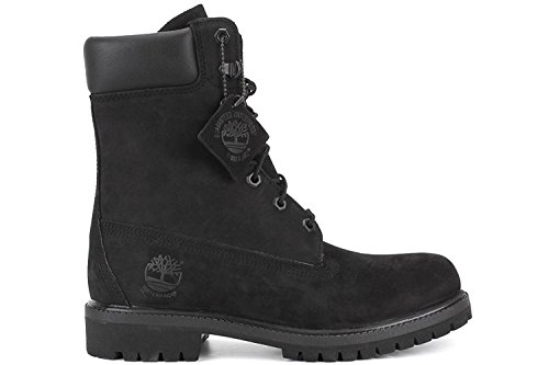 Timberland 8 Premium Mens Boot, Black Out Nubuck Leather, 47.5 D(M) EU/12.5 D(M) UK
