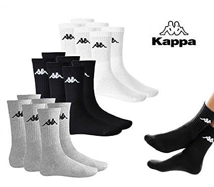 Paquete de 3 calcetines para hombre KAPPA algodón rizado 302S1L0 - Blanco, 44 / 46