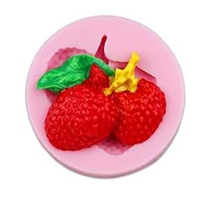 liuzhi Lichi frutas moldes en forma de pastel de chocolate fondant de silicona, de las herramientas de decoración de utensilios de cocinado: Amazon.es: ...