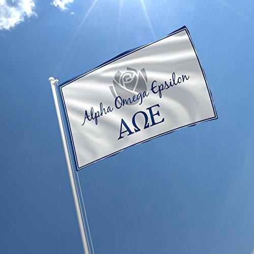(Alpha Omega Epsilon Licensed Greek Life Garage Hangar Basement Flag 2x3 Feet)