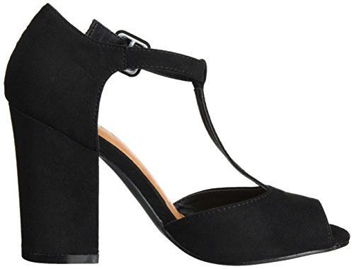 Negro Black Open Mary Shoe Mujer Sandalias para Exp16 Jane Bianco aq7n87f