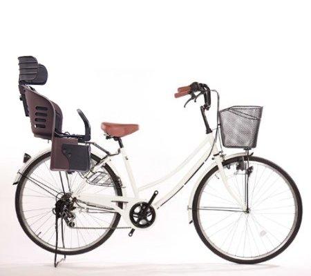 Lupinusルピナス 自転車 日本 26インチ LP-266UD-KNRJ-BR 軽快車 新登場 ダイナモライト 樹脂製後子乗せブラウン シマノ外装6段ギア B073LPM8GJホワイト