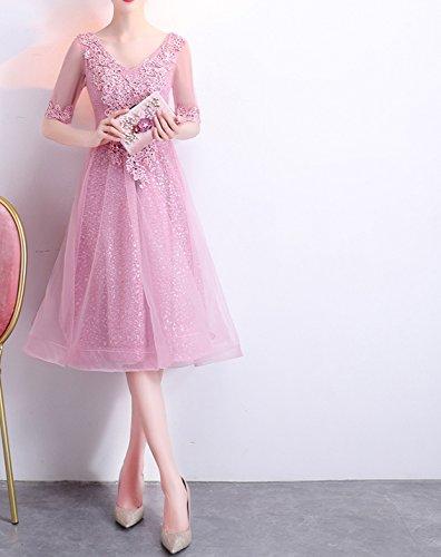 rosado Rbb Partido Verano Vestido Manera Estudiantes Pequeña l Delgado Honor De 2018 La Noche Corto Del Femenino Falda Párrafo Dama FpxFUS