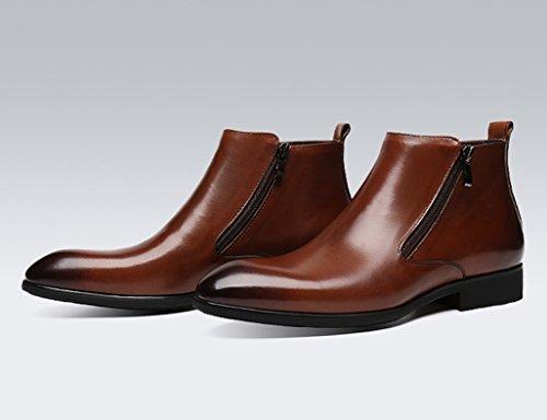 HWF Scarpe Uomo in Pelle Scarpe da uomo in pelle Scarpe alte Scarpe da lavoro stile inglese a punta inglese (Colore : Marrone, dimensioni : EU42/UK7.5) Marrone