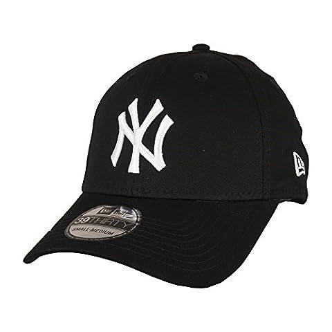 New Era Men's 39thirty League Basic New York Yankees Cap - Black/white
