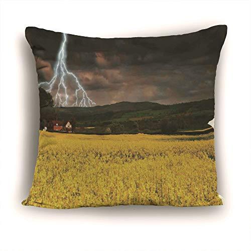 YOLIYANA Modern 100% Cotton Tufted Lake House Decor Pillow 12