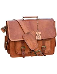 Vintage Handmade Leather Messenger Bag for Laptop Briefcase Satchel Bag