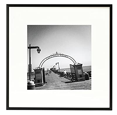Golden State Art, Metal Wall Photo Frame Collection, Aluminum Black Photo Frame with Real Glass