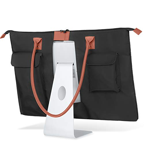 CURMIO Carrying Bag for Apple 27″ iMac Desktop Computer, Travel Tote Bag Protective Shoulder Case with PU Leather Handle for 27″ iMac Monitor and Accessories, Patented Design
