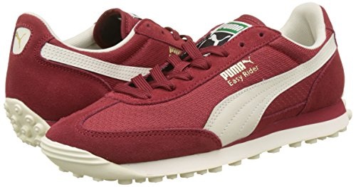 Amazon.com | PUMA Easy Rider Classic Trainers, Red Dahlia-Whisper White-Gold, 5 UK | Fashion Sneakers