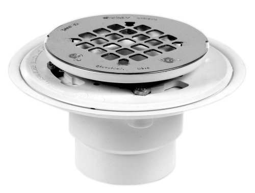 (Oatey 42202 PVC Drain with Round Stainless Steel Snap-Tite Strainer, 2-Inch or 3-Inch)