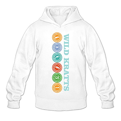 (NUBIA Men's Creature Power Custom Sweater White XL)