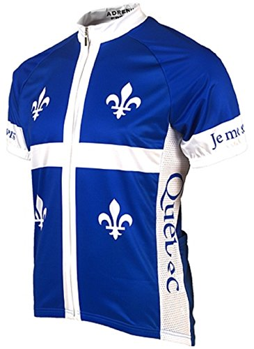 Adrenaline Promotions Canadian Provinces Quebec Cycling Jersey, Multi, -