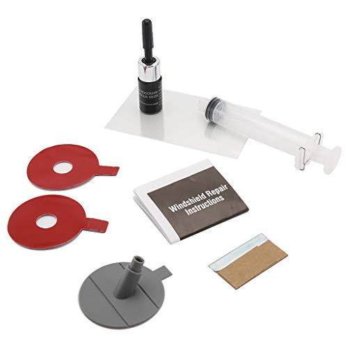 (Auto Glass Repair Tool,SuperUS Auto Glass Repair Kit Windshield for Chip & Crack Repair Tools Utile Power (1 Set, Multicolor) )