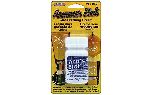 Armour Glass Etching Cream Carded,2.8-Ounce