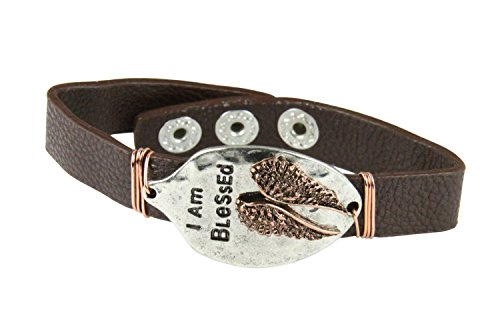 4030205 I AM BLESSED Spoon Leather Bracelet Be Bless Assurance