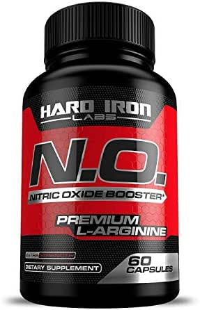 Nitric Oxide Supplement - Nitric Oxide Booster 1300mg - L Arginine & L Citrulline for Muscle Building, Vascularity, Pumps, Energy, Heart Health - Increase Blood Flow NO Booster Pre - 60 Capsules