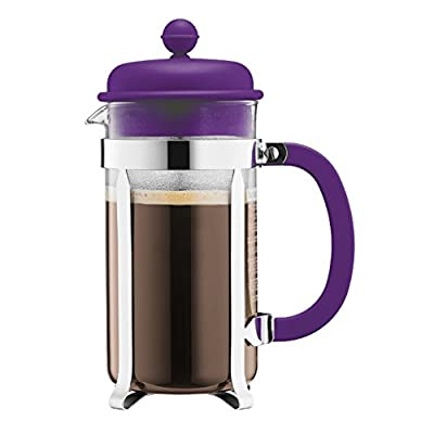 Bodum Caffettiera French Press Coffee Maker: 8 Cup, Assorted Colors