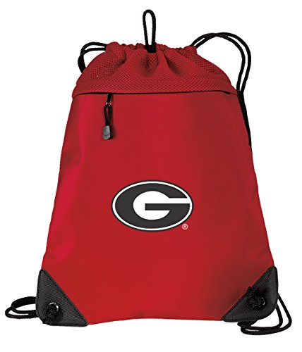 University of Georgia Drawstring Backpack Bag Georgia Bulldogs Cinch Pack - UNIQUE MESH & MICROFIBER (Georgia Bulldogs Ncaa Drawstring)