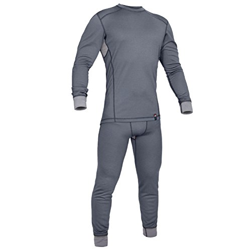Military Thermal Underwear Suit - Moisture Wicking Base Layer - Outdoor Hiking Sport - Polartec Power Grid - Punisher Combat Line by 281Z (Large, (Polartec Thermal)