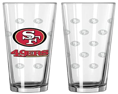 NFL Satin Etch Pint Glass Sets