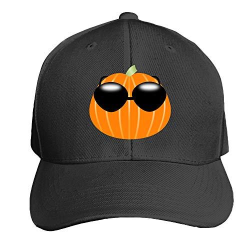 Pumpkin Sunglasses Halloween Cool Holiday Men's Structured Twill Cap Adjustable Peaked Sandwich Hat ()