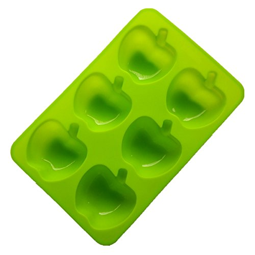 Allforhome(TM) 6 Apples Muffin Cups Handmade Soap Molds Biscuit Chocolate Molds Silicone Cake Baking Pan