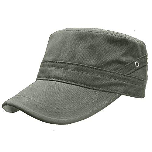 Mens Military Hat Baseball Cap Army Flat Top Cap Corps Hat Cotton Outdoor