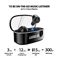 Wireless Bluetooth Earbuds,TWS Bluetooth True Wireless Earbuds 15H Playtime 3D Stereo Sound Wireless Headphones,Built-in Microphone,Gift Box … (LA10) from Lasdolod