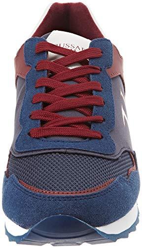 blue De Bleu Gymnastique bordeaux Homme 7779 blu U602 Jeans Running Chaussures Trussardi HwO1xa