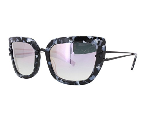Kendall + Kylie Bianca KK5002 961 B/W Marble Demi / Silver Mirror - And Kendall Kylie Sunglasses