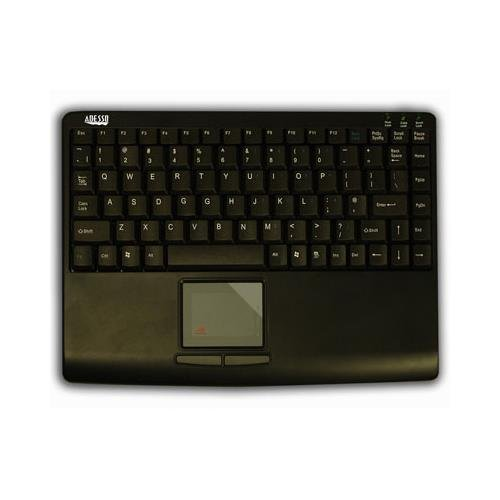 ADESSO akb-410ub USB slim touchusb mini keyboard with built in touchpad (black) AKB410UB
