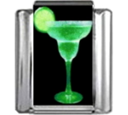 - Stylysh Charms Cocktail Margarita Martini Photo Italian 9mm Link NC144